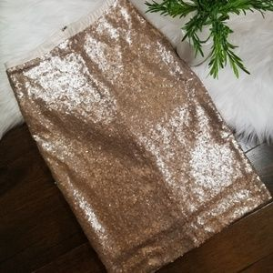 EUC Downeast Sequined Pencil Skirt